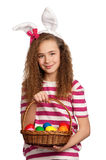 Girl with bunny ears Royalty Free Stock Image