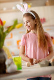 Girl with bunny ears for Easter Royalty Free Stock Image