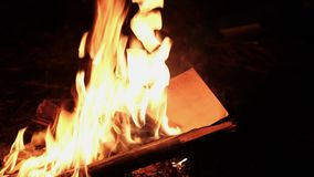 A girl is burning a letter.