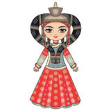 The girl in Buryat dress. Historical clothes. Royalty Free Stock Photos
