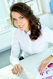 Girl in business Royalty Free Stock Photos