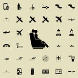 girl in a business class airplane icon. Airport Icons universal set for web and mobile vector illustration
