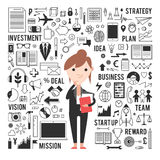 The girl in the business concept Royalty Free Stock Photos