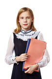 Girl with business folders Royalty Free Stock Images