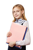 Girl with business folders Stock Images
