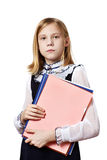 Girl with business folders Royalty Free Stock Photography
