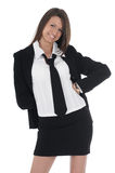 Girl in business suit Royalty Free Stock Images