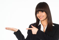 Girl in a business suit Royalty Free Stock Photos
