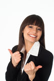 Girl in a business suit Stock Photography