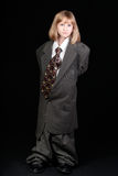 Girl in Business Suit Stock Images