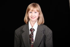 Girl in a business suit Royalty Free Stock Images