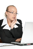 girl in a business suit Royalty Free Stock Image