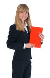 Girl in a business suit Royalty Free Stock Photo
