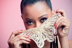 Girl with a butterfly Stock Photography