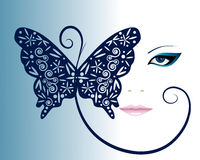 Girl with butterfly Royalty Free Stock Images