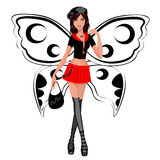 Girl butterfly Stock Photography