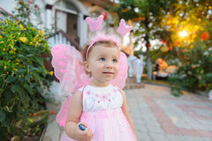 Girl in Butterfly Dress Royalty Free Stock Photo