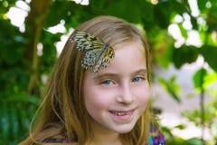 Girl butterfly head Rice Paper Idea leuconoe Royalty Free Stock Photo