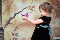 Girl Butterfly Portrait Royalty Free Stock Image