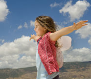 Girl with butterfly wings Stock Photography