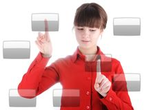 Girl with buttons Royalty Free Stock Photos