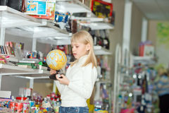 Girl buys school accessories. Stock Photography