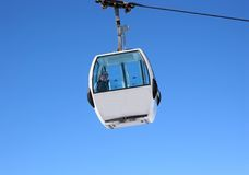 Girl in a cablecar Royalty Free Stock Image