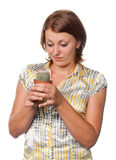 Girl with a cactus Royalty Free Stock Photos