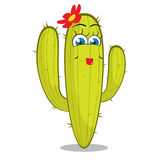 Girl cactus character. Royalty Free Stock Photos