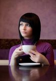 Girl in cafe Stock Photos