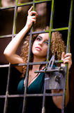 Girl In Cage Royalty Free Stock Images