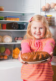 Girl with cake Royalty Free Stock Image