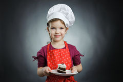 Girl with a cake Stock Image