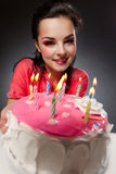 Girl with cake Stock Photo