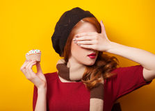 girl with cake Stock Image