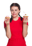 Girl with cakes Stock Image