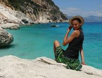 Girl - Cala Goloritzé (Goloritze bay) - Sardinia Royalty Free Stock Photography