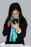 Girl with calculator Royalty Free Stock Photo