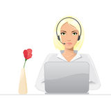 Girl from call center Royalty Free Stock Photos