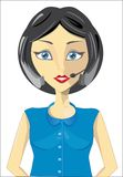 Girl of a call center Royalty Free Stock Image