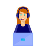 Girl, Call center Royalty Free Stock Image