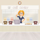 Girl in the call center Stock Photo