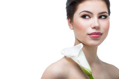 Girl with calla flower Stock Photo