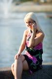 Girl calling Stock Photo