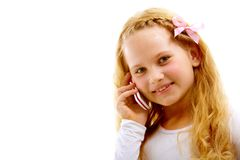 Girl calling Royalty Free Stock Image