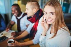 Girl calling Stock Image
