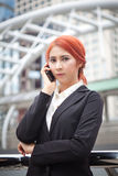 Girl calling on the phone Royalty Free Stock Photo