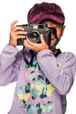 Girl with a Camera Royalty Free Stock Image