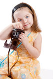 Girl with camera Royalty Free Stock Image
