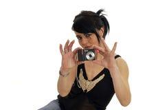 Girl and camera Stock Image